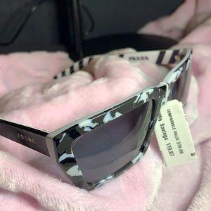 Camo Geo 57mm Rectangle Sunglasses PRADA